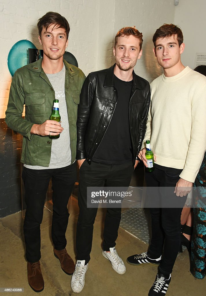 Charlie Timms, George Barnett and Karl Morrall attend as Iconic British fashion label RED OR DEAD and London based NEWGEN design talent Ashley Williams celebrate the launch of the second phase of their exclusive Ashley Williams x RED OR DEAD footwear collaboration at Lights Of Soho on September 2, 2015 in London, England.