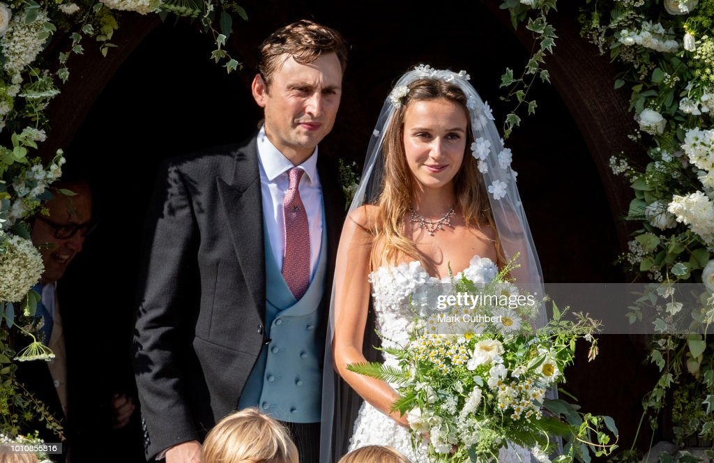 Charlie Van Straubenzee and Daisy Jenks get married on August 4, 2018 in Frensham, United Kingdom. Prince Harry attended the same prep school as Charlie van Straubenzee and have been good friends ever since.
