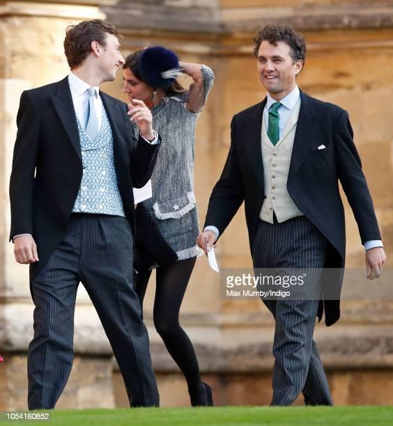 Charlie van Straubenzee and Thomas van Straubenzee attend the wedding of Princess Eugenie of York and Jack Brooksbank at St George's Chapel on...
