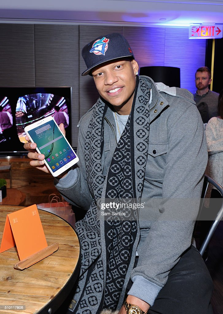 Charlie Villanueva at the Samsung Galaxy Lounge during NBA All-Star 2016 on February 13, 2016 in Toronto, Canada.