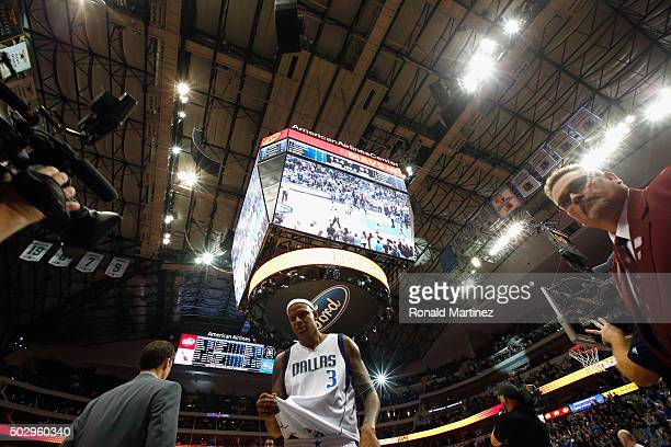Charlie Villanueva of the Dallas Mavericks leaves the court after a 11491 win against the Golden State Warriors at American Airlines Center on...