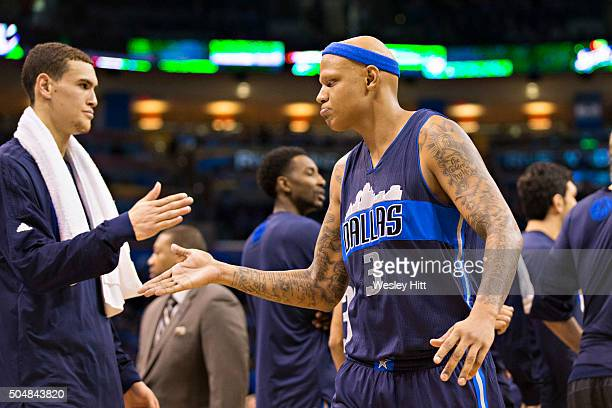 Charlie Villanueva of the Dallas Mavericks walks off the court after being ejected for two technical fouls during the first half of a game against...