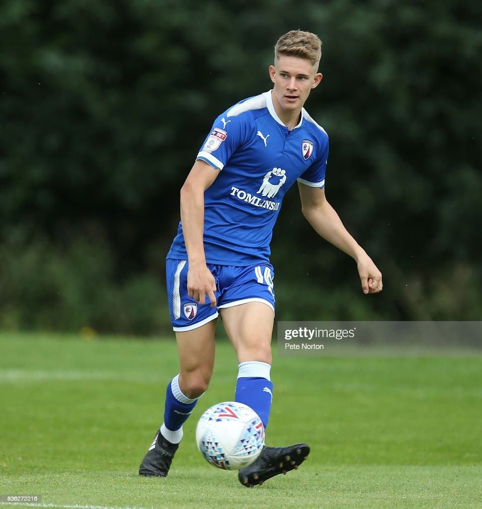 Charlie Wakefield of Chesterfield in action during the Reserve Match between Northampton Town and Chesterfield at Moulton College on August 21, 2017 in Northampton, England.