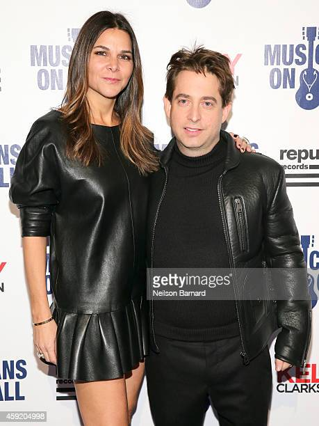 Charlie Walk and Lauran Walk attend Musicians On Call Celebrates Its 15th Anniversary Honoring Kelly Clarkson And EVP Of Republic Records, Charlie...