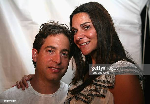 Charlie Walk and wife Lauran Walk visit the Hampton SOCIAL @Ross Performance by Dave Matthews Band at the Ross School July 28 2007 in East Hampton...