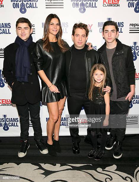 Charlie Walk, Lauran Walk and family attend Musicians On Call Celebrates Its 15th Anniversary Honoring Kelly Clarkson And EVP Of Republic Records,...