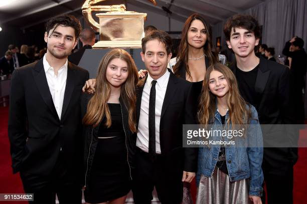 Charlie Walk of Republic Records Lauran Walk and their family attend the 60th Annual GRAMMY Awards at Madison Square Garden on January 28 2018 in New...