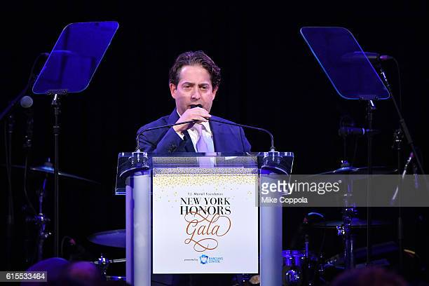 Charlie Walk speaks on stage as he presents Visionary Leadership award during TJ Martell Foundation's 41st Annual Honors Gala at Gustavino's on...