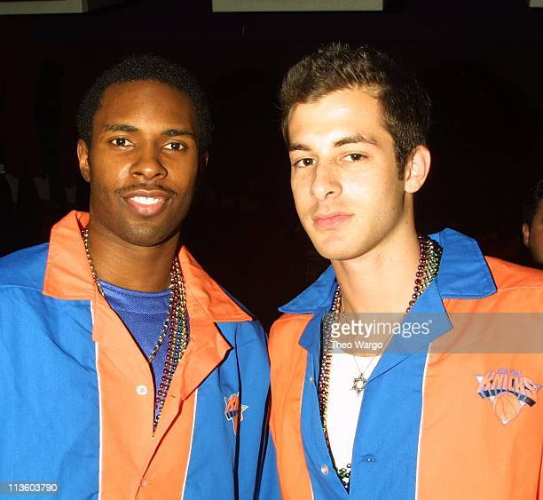 Charlie Ward and Mark Ronson during Knicks Bowl 2 will benefit the Red Holzman Knicks Kids Foundation at Chelsea Piers in New York City New York...