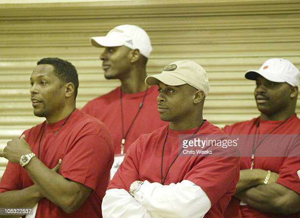 Charlie Ward Mike James LaPhonso Ellis Mike Barrow Troy Vincent Corey Maggette and Hardy Nickerson