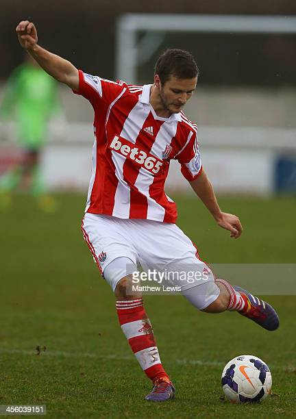 Charlie Ward of Stoke in action during the Barclays U21s Premier League match between Stoke City U21's and Southampton U21's at the Weaver Stadium on...