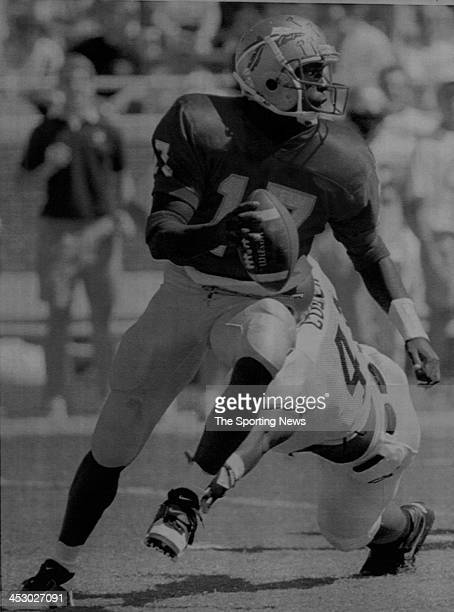 Charlie Ward of the Florida State Seminoles against Georgia Tech on October 2 1993 at Doak Campbell Stadium in Tallahassee Florida Ward played for...