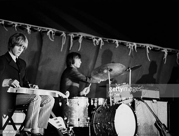 Charlie Watts and Brian Jones of the Rolling Stones in performance circa 1965 New York
