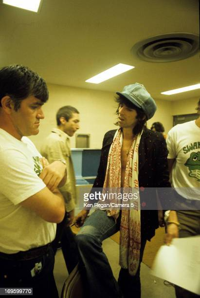 Charlie Watts and Keith Richards of the Rolling Stones are photographed backstage in 1975 CREDIT MUST READ Ken Regan/Camera 5 via Contour by Getty...
