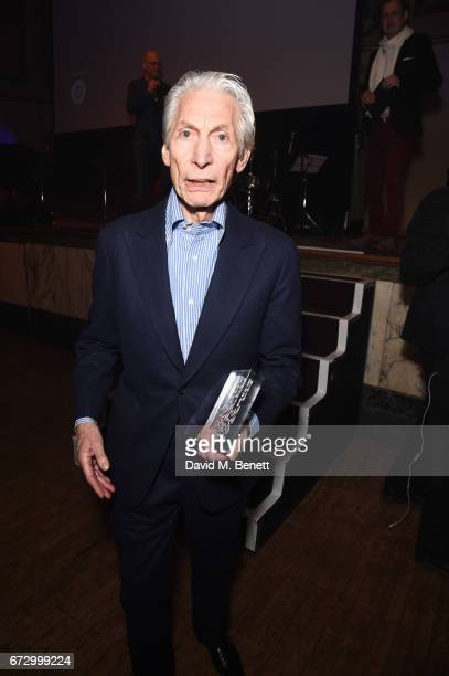 Charlie Watts attends the Jazz FM Awards 2017 at Shoreditch Town Hall on April 25 2017 in London England