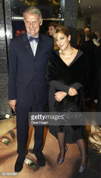 Charlie Watts' daughter Seraphina Watts and guest arrive at the World Premiere of Alfie at the Empire Leicester Square on October 14 2004 in London