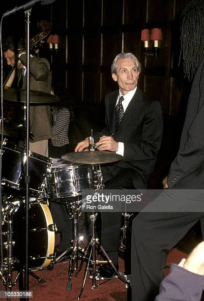 Charlie Watts during Warm and Tender Record Release Party at Hotel Algonquin in New York City New York United States