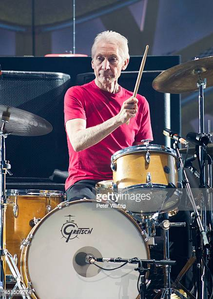 Charlie Watts of the british rock band 'The Rolling Stones' performs at EspritArena on June 19 2014 in Duesseldorf Germany