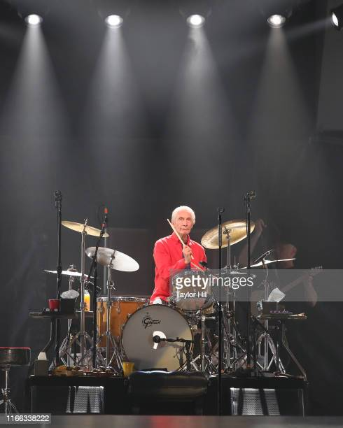 Charlie Watts of The Rolling Stones perform at MetLife Stadium on August 05 2019 in East Rutherford New Jersey