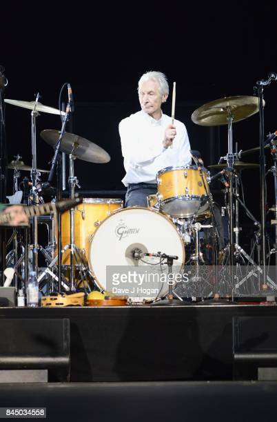 Charlie Watts of The Rolling Stones perform/s on the opening night of their European 'No Filter' tour on September 9 2017 in Hamburg Germany