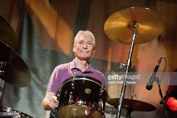 Charlie Watts performs with The ABCD of Boogie Woogie at Le New Morning on October 2 2011 in Paris France