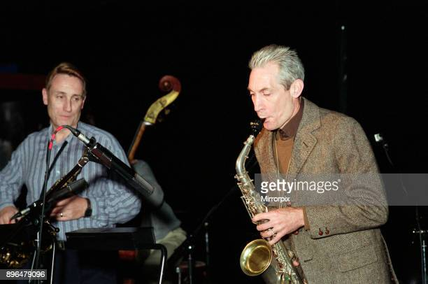Charlie Watts The Rolling Stones drummer at Ronnie Scott's Broad Street Birmingham West Midlands 28th October 1991