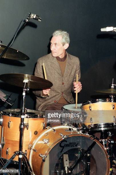 Charlie Watts, The Rolling Stones drummer, at Ronnie Scott's. Broad Street, Birmingham, West Midlands, 28th October 1991.