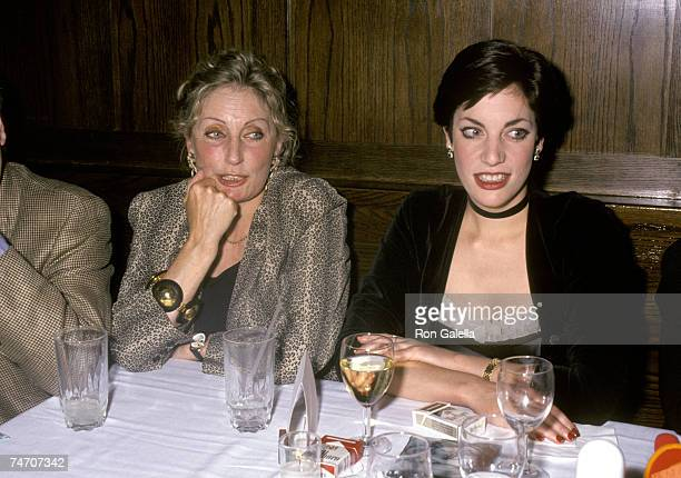 Charlie Watts's wife Shirley and daughter Seraphina at the Hotel Algonquin in New York City New York