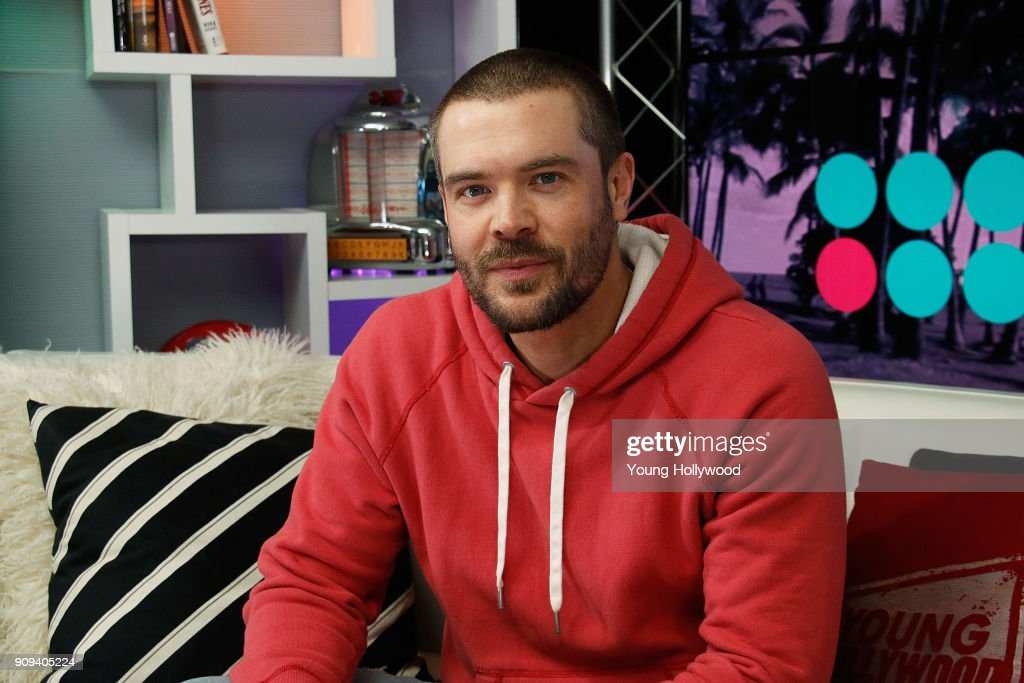 Charlie Weber Visits Young Hollywood Studio