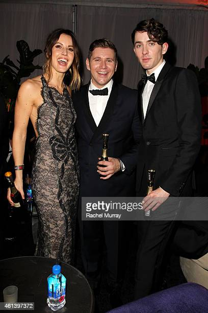 Charlie Webster actor James Leech and actor Matthew Beard attend The Weinstein Company Netflix's 2015 Golden Globes After Party presented by FIJI...