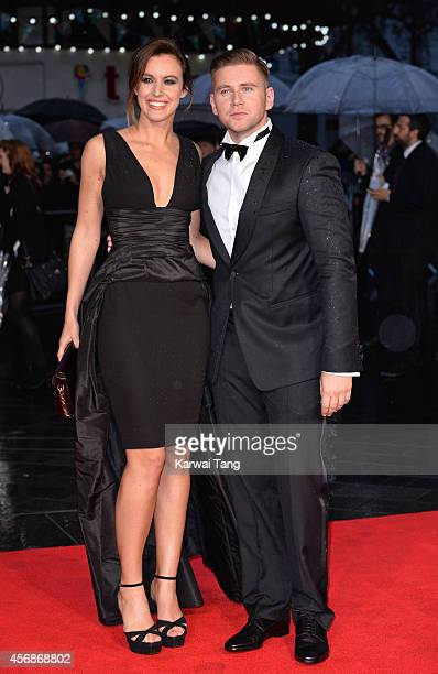 Charlie Webster and Allen Leech attend a screening of The Imitation Game on the opening night gala of the 58th BFI London Film Festival at Odeon...