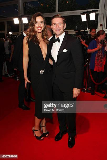 Charlie Webster and Allen Leech attend the BFI London Film Festival IWC Gala Dinner in honour of the BFI at Battersea Evolution Marquee on October 7...