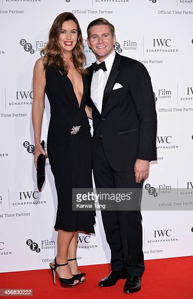 Charlie Webster and Allen Leech attend the IWC Gala dinner in honour of the BFI at Battersea Evolution on October 7 2014 in London England