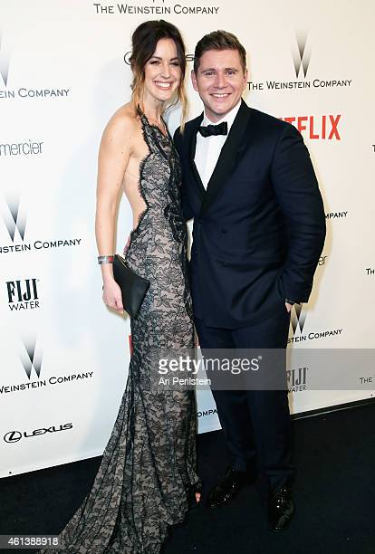 Charlie Webster and Allen Leech attend The Weinstein Company Netflix's 2015 Golden Globes After Party presented by FIJI Water Lexus Laura Mercier and...