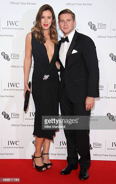 Charlie Webster and Allen Leech attends the IWC Gala dinner in honour of the BFI at Battersea Evolution on October 7 2014 in London England