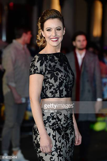 Charlie Webster arrives for the European premiere of 'Eddie The Eagle' at Odeon Leicester Square on March 17 2016 in London England