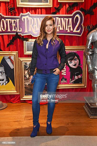 Charlie Webster attends a gala screening of Hotel Transylvania 2 at The Soho Hotel on September 27 2015 in London England