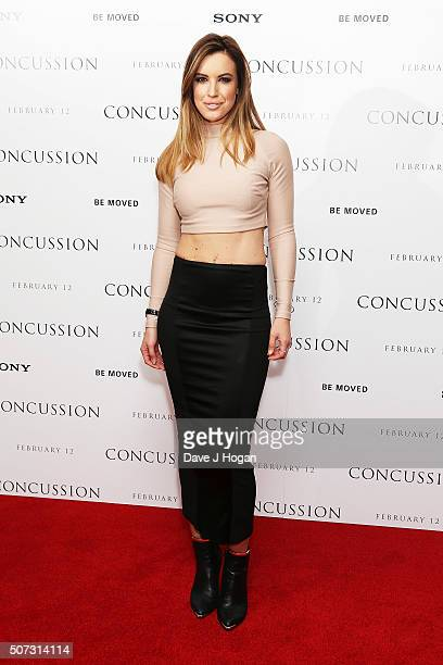 Charlie Webster attends a special screening of Concussion at Ham Yard Hotel on January 28 2016 in London England