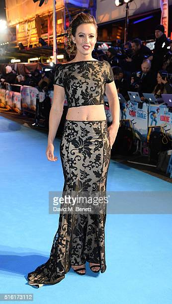 Charlie Webster attends the European Premiere of 'Eddie The Eagle' at Odeon Leicester Square on March 17 2016 in London England