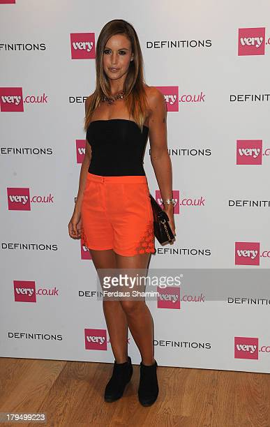 Charlie Webster attends the launch party of verycouk's Definitions range at Somerset House on September 4 2013 in London England