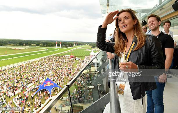 Charlie Webster attends the Red Bull Air Race World Championships at Ascot Racecourse on August 16 2015 in Ascot England