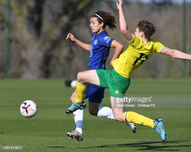 Charlie Webster of Chelsea during the Norwich City v Chelsea U18 Premier League match on February 27, 2021 in Norwich, England.