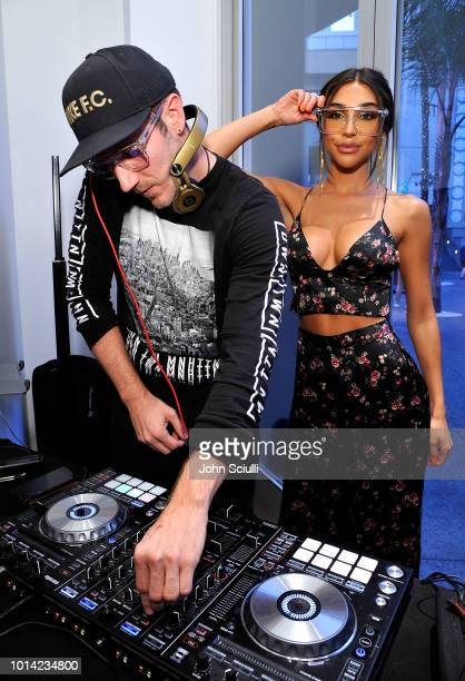 DJ Charlie White and Music Producer and DJ Chantel Jeffries attend Quay Australia Blue Light Launch hosted by Music Producer DJ Chantel Jeffries on...