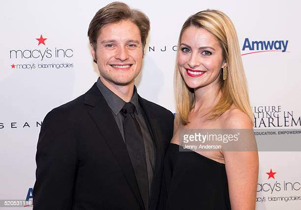 Charlie White and Tanith White attend 11th Annual Skating With The Stars Gala at 583 Park Avenue on April 11 2016 in New York City