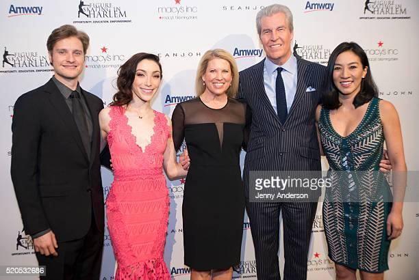 Charlie White Meryl Davis Tina Lundgren Terry Lundgren and Michelle Kwan attend 11th Annual Skating With The Stars Gala at 583 Park Avenue on April...