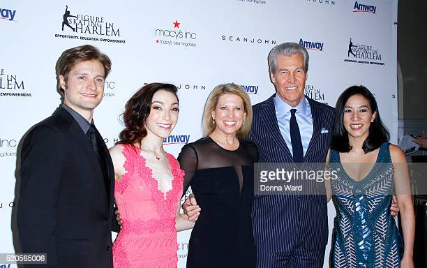 Charlie White Meryl Davis Tina Lundgren Terry Lundgren and Michelle Kwan attend the11th Annual Skating with the Stars Gala at 583 Park Avenue on...