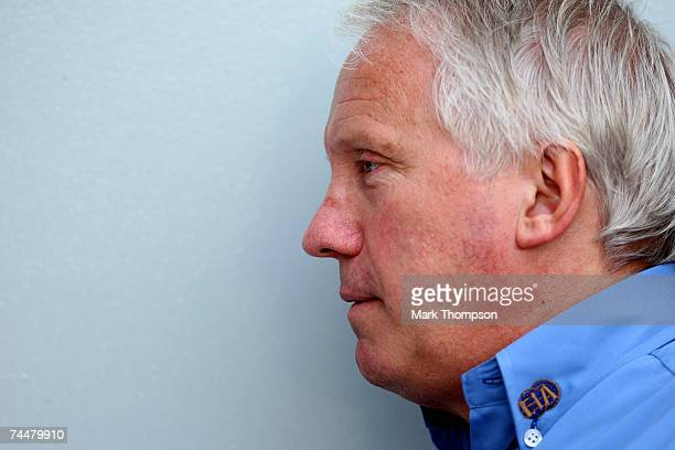 Charlie Whiting FIA Formula One Race Director speaks to Lewis Hamilton of Great Britain and McLaren Mercedes before qualifying for the Canadian...