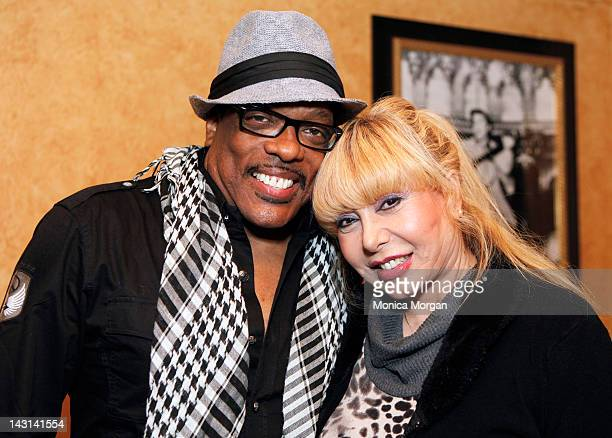 Charlie Wilson and Mahin Wilson backstage at the Fox Theatre on April 8 2012 in Detroit Michigan