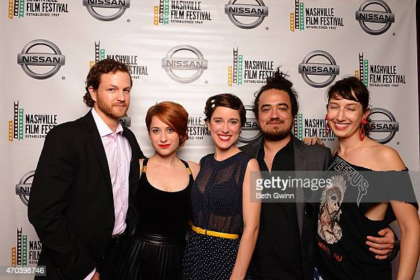 Charlie Wilson Angela Gulner Elsa Carette Russ Cramer and Annika Kurnick of the film 'Molly Takes a Trip' attend the Nashville Film Festival at Green...