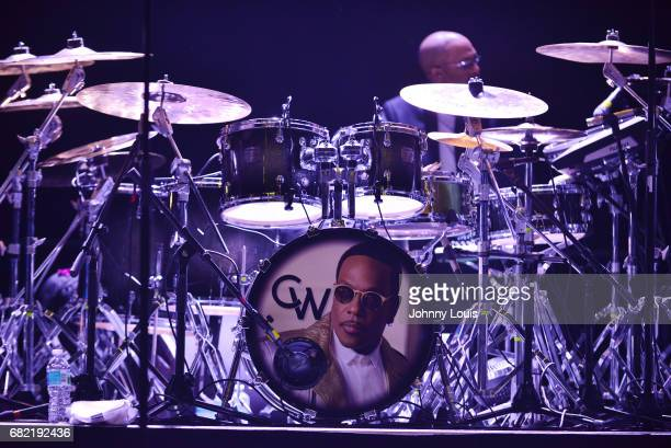 Charlie Wilson drumset on stage at Hard Rock Live in the Seminole Hard Rock Hotel Casino on May 11 2017 in Hollywood Florida
